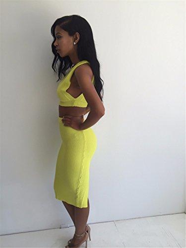 Neueste Frauen zweiteilige ärmellos runder Ansatz Baumwollkleid Paket Hüfte Kleider