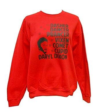 Amazon.com: The Walking Dead Christmas Sweater Unisex Crew Red ...