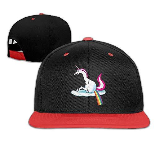 Unicorn Pooping Rainbow 1 Hip-Hop Caps with Kids Baseball Hat Boy and -