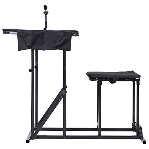 Folding Shooting Bench Seat with Adjustable Table Gun Rest Height Adjustable by BUY JOY (Image #2)