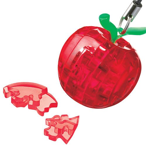 Crystal Collection 3 Ring - Bepuzzled Mini 3D Crystal Puzzle - Red Apple - Fun yet challenging brain teaser that will test your skills and imagination, For Ages 12+