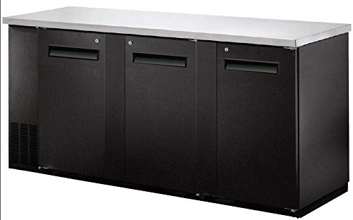 Price comparison product image SABA SBB-27-90B Narrow Solid Door Back Bar Cooler Stainless Steel Top and LED Lighting