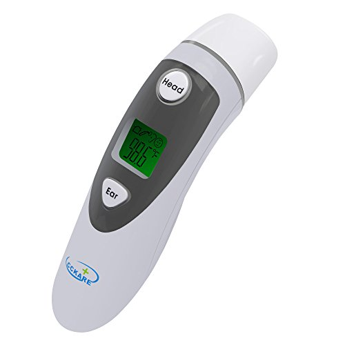 Ear Thermometer,CCKARE Forehead and Ear Digital Thermometer , Instant Read and Easy to Use Temperature - Your To Measure For How Glasses Head