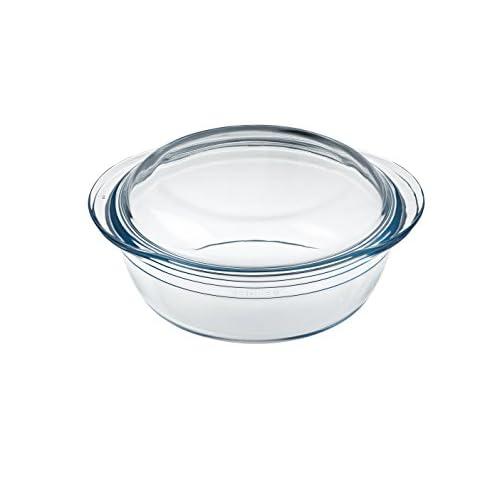 Arcuisine Borosilicate Glass Round Casserole w/Lid 20.2 Centimeters / 1.6 Liters