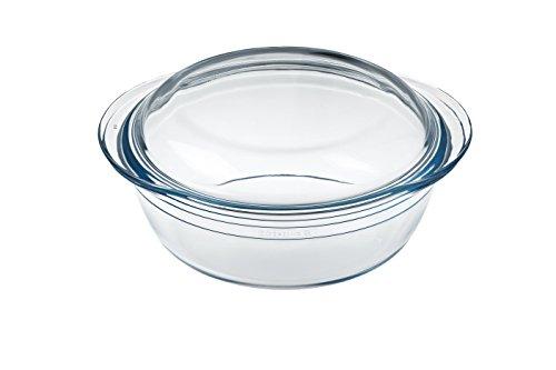 International Cookware Arcuisine Borosilicate Glass Round Casserole w/Lid 17.8 Centimeters / 1 Liter