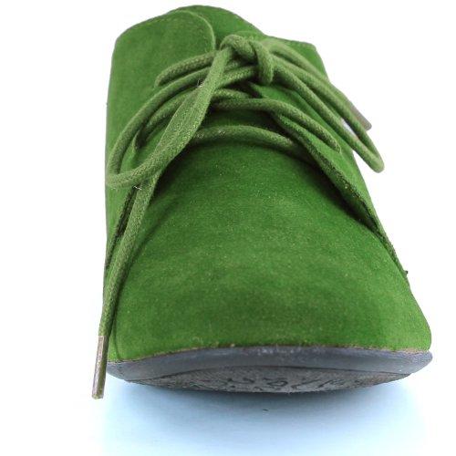 Damesschoenen Van Klassiek Klassiek Plateau Van Balletrozetten Oxford Sneaker Apple Apple Green
