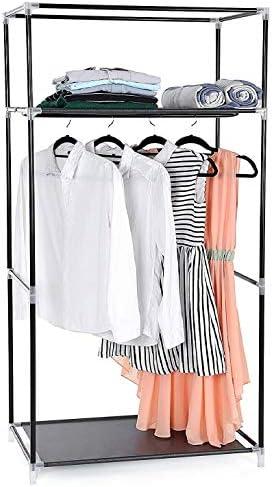 HERSIG Fabric Wardrobe Shelf Canvas Clothes Wardrobe Closet 160 x 88 x 45 cm /59452