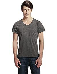Pau1Hami1ton T-02 Men's Casual Slim Fit Cotton V-Neck Short-Sleeve T-Shirt