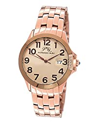 Porsamo Bleu Olivia Stainless Steel Rose Tone and Brown Women's Watch 984AOLS