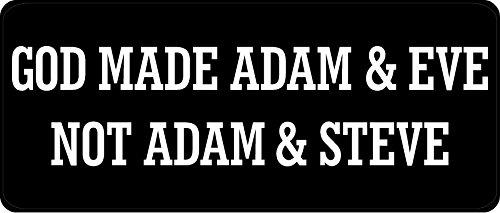 3 - God Made Adam And Eve Not Adam And Steve Hard Hat / Biker Helmet Sticker BS 838 ()