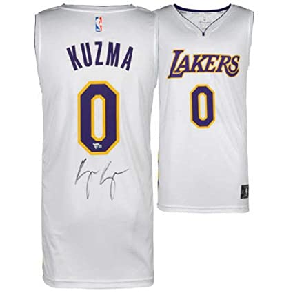 aa92acf7bb4 Image Unavailable. Image not available for. Color: Kyle Kuzma Autographed  Signed Memorabilia White Los Angeles Lakers Jersey ...