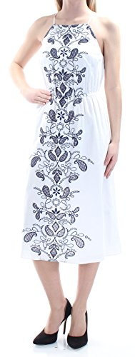 Maison Jules Womens Embroidred Sleeveless Casual Dress White XS from Maison Jules