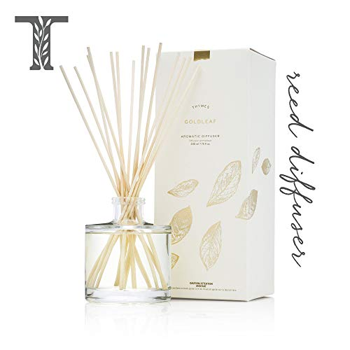 - Thymes - Goldleaf Aromatic Oil Reed Diffuser - Gift Set with Premium Sticks, Glass Bottle and Floral Scented Oil, 7.75 Oz.