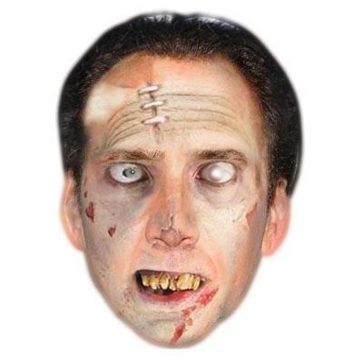 Celebrity Cutouts Zombie Nicholas Cage Mask, Halloween, Fancy Dress, -