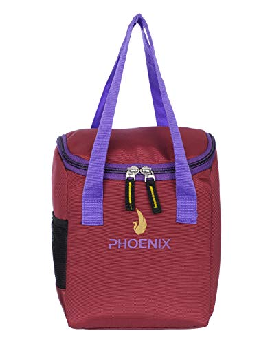 Phoenix Waterproof Lunch Tiffin Bag for School Office Picnic Red