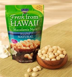 Mac Farms Macadamia Nuts, All Natural Unsalted 6 oz (Pack of 2)