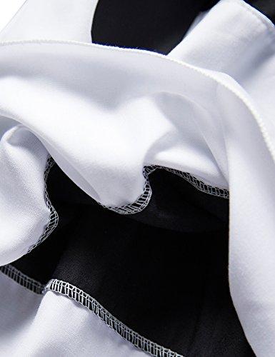 Nnjxd Polka Fille Partie Froissée Multicouche Plissée En Pointillés Robe Grise Et Blanc