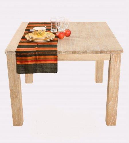 Mesa de comedor de madera BARCELONIA Mindi mesa 90 x 77 cm diseño ...