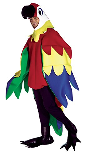 [UHC Unisex Parrot Outfit Mascot Theme Party Funny Adult Halloween Costume, OS] (Deluxe Parrot Costumes)