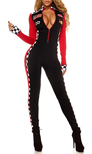 Racer Halloween Costumes (Adam's Temptation Racer Babe Exotic Sport Car Driver Costume Set (One Size))