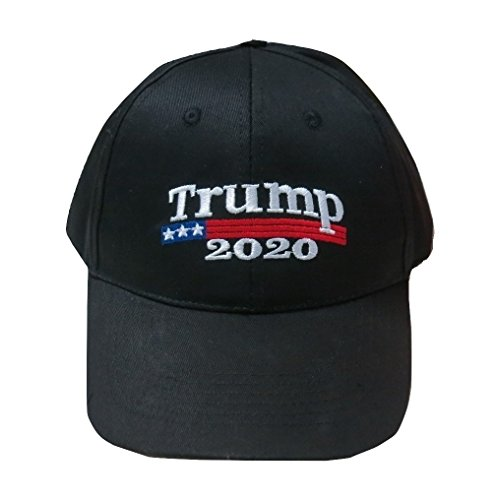 TrendyLuz Make America Great Again Donald Trump MAGA Baseball Cap Hat (Black Trump 2020)