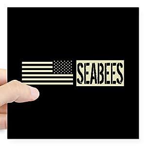 CafePress U.S. Navy: Seabees (Black F Square Bumper Sticker by CafePress
