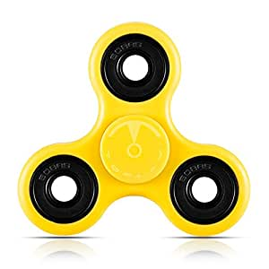 Toplay Fidget Spinner Toy Stress Reducer Ceramic Bearing - Perfect For ADD, ADHD, Anxiety, and Autism Adult Children (Yellow)