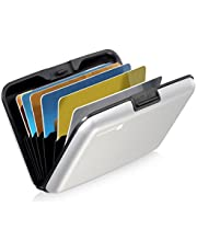 GreatShield RFID Blocking Wallet [8 Slots   Aluminum] Portable Travel Identity ID/Credit Card Safe Protection Card Holder Hard Case for Men and Women (Silver)