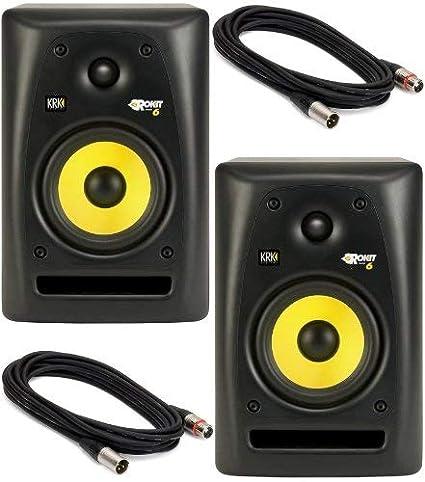Verwonderlijk Amazon.com: KRK Rokit 6 Studio Monitor Speaker Bundle with Pair of GG-62