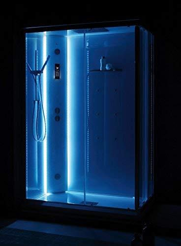 Cabina Doccia Multifunzione 100x80.Grandform Box Doccia Multifunzione White Space Vapor
