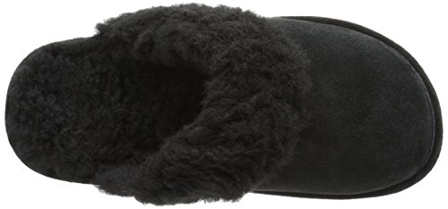 Lamo Womens Scuff (synthetic) Slipper Black Sheepskin Scuff
