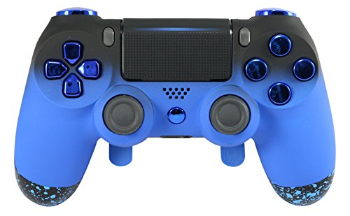PS4 Elite Controller Adjustable Paddles, Blue Chrome Soft Touch Grip, GM  Master Mod, Trigger Stops, Modded Controller Rapid Fire, Drop Shot,