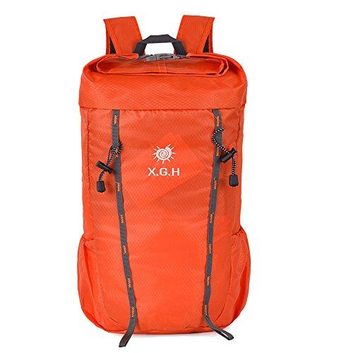 Vbiger 25L Mochila de Escalada Mochila para Uso al Aire Libre Mochilas para Viajar Deportes Ocio Escalada Actividades al Aire Libre Caminar (Verde ejército) Naranja