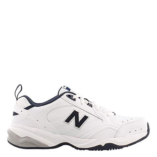 New Balance Men's MX624v2 Casual Comfort Training Shoe, White/Navy, 8.5 2E US