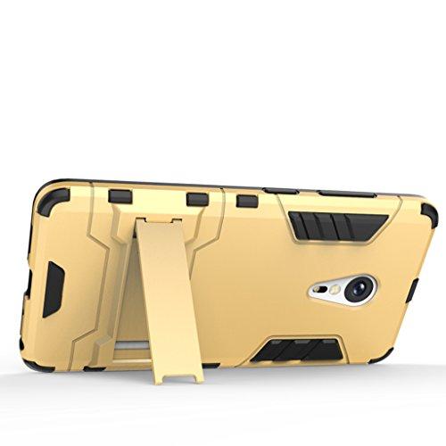 KaiTelin ZUK Z2 Pro Funda - 3 Capas Pistolera Combinada Prueba de Golpes [Protección Contra Caídas] Soporte Caso Duro de La Cubierta para ZUK Z2 Pro - Rojo Oro