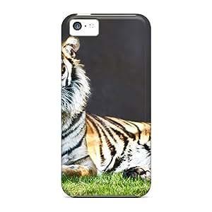 Pretty NOJ6990gUta Iphone 5c Case Cover/ Proud Tiger Animals Series High Quality Case