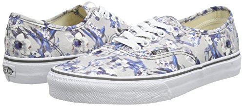 Floral pewter White Sneakers Vans Basses Multicolore true Mixte blurred Authentic Adulte 0ww8Sqx1