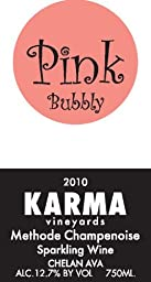 2010 Karma Vineyards Pink Bubbly Methode Champenoise Sparkling Wine 750 mL