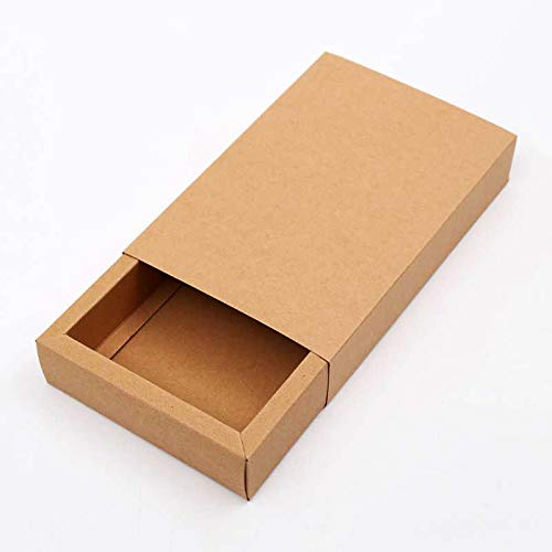 3450267eb6da Amazon.com: XLPD 6 Sizes 10Pcs Large Black Kraft Paper Gift Box ...