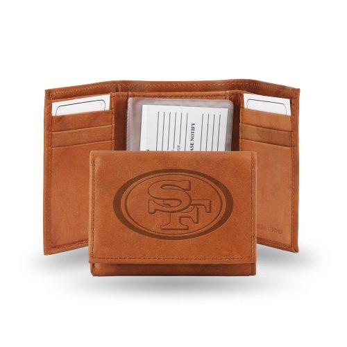 Nfl Team Embossed Billfold (NFL Embossed Tri-Fold Wallet NFL Team: San Francisco)
