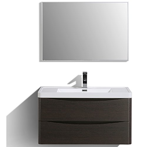 Bathroom Vanity Double Sink Chest - Eviva EVVN900-36CHNT-WM Smile 36