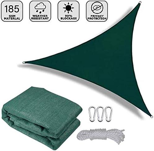 LSXIAO オールシーズンズに適したカラビナ、ナイロンロープでサンシェード用バルコニープレーンシェード帆HDPE原料空気循環 (Color : Green 11.5'x11.5'x11.5')