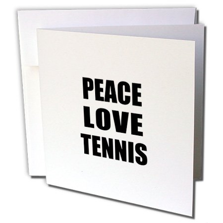 d Tennis - Things That Make Me Happy - Sport Player Gift, Greeting Cards, Set of 6 (gc_184916_1) (Peace Postage)