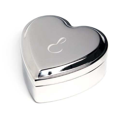 Cathy's Concepts Personalized Silver Heart Keepsake Box, ...