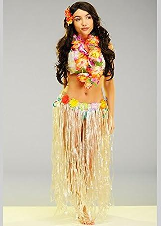 Boland Falda Hawaiana Larga con Flores: Amazon.es: Juguetes y juegos