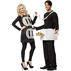 Plug and Socket Couples Costume Packaged Together, Black/White, One Size