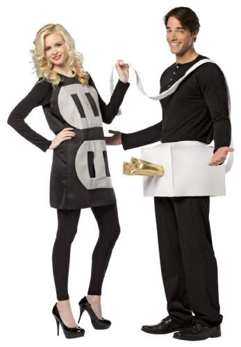Rasta Imposta Plug and Socket Couples Costume Packaged Together, Black/White, One Size