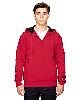 S185 CH S185 COTTON MAX 1/4 ZP HOOD SPORT RED 3XL
