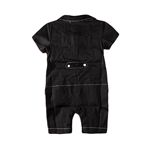 Stylesilove Ruffle Vest Red Girdle Baby Boy Tuxedo Romper