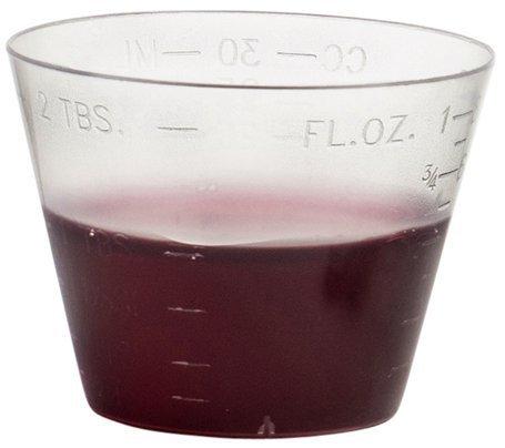 MaxEeze 200 Vakly Disposable Graduated Plastic Medicine Cups, 1 OZ